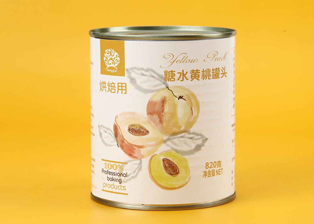 糖水黄桃罐头820g